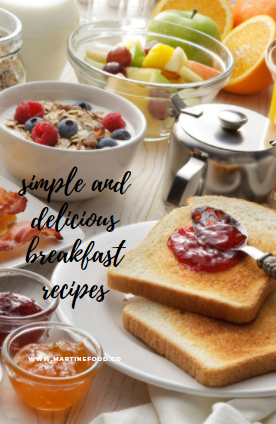 Simple and easy breakfast meals that you can plan beforehand!